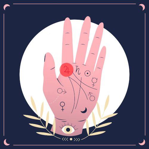 wróżenie z ręki - jowisz