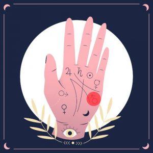 wróżenie z ręki - mars negatywny