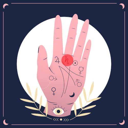 wróżenie z ręki - saturn