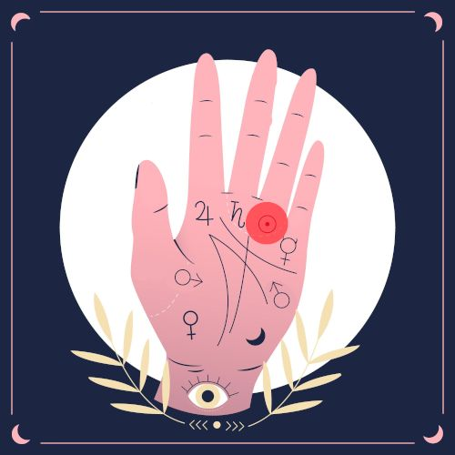 wróżenie z ręki - słońce