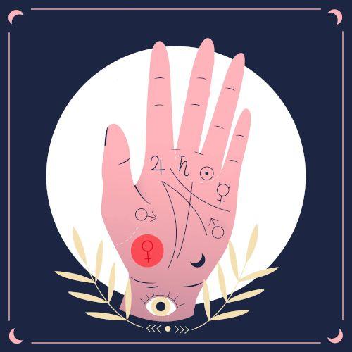 wróżenie z ręki - wenus