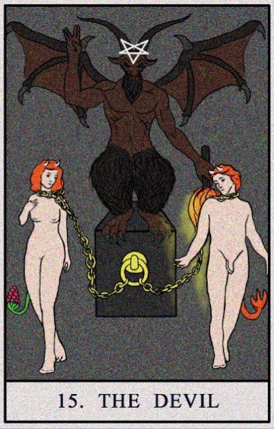Karta Tarota - Diabeł