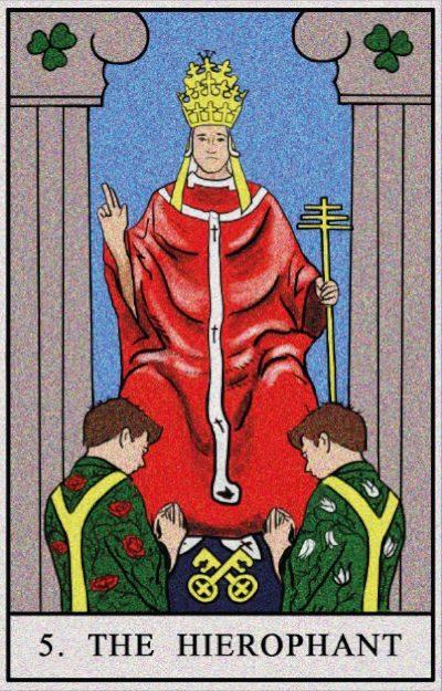 Karta Tarota - Kapłan tarot