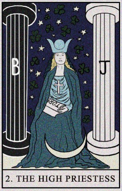 Karta Tarota - Kapłanka