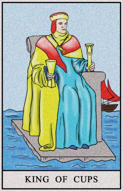 Karta Tarota - Król Kielichów