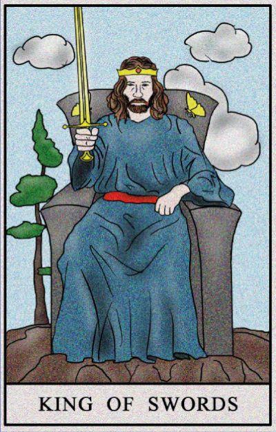 Karta Tarota - Król Mieczy