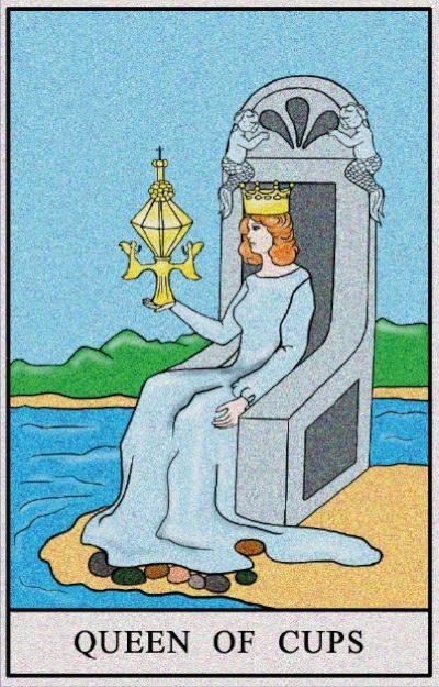 Karta Tarota - Królowa Kielichów