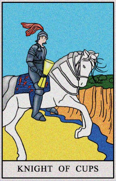 Karta Tarota - Rycerz Kielichów