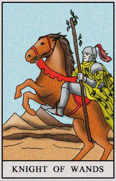 Karta Tarota - rycerz buław